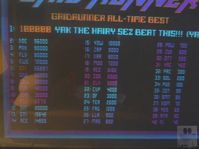 GTibel: Gridrunner [Level 1 Start] (Atari ST) 66,897 points on 2019-10-14 07:19:54