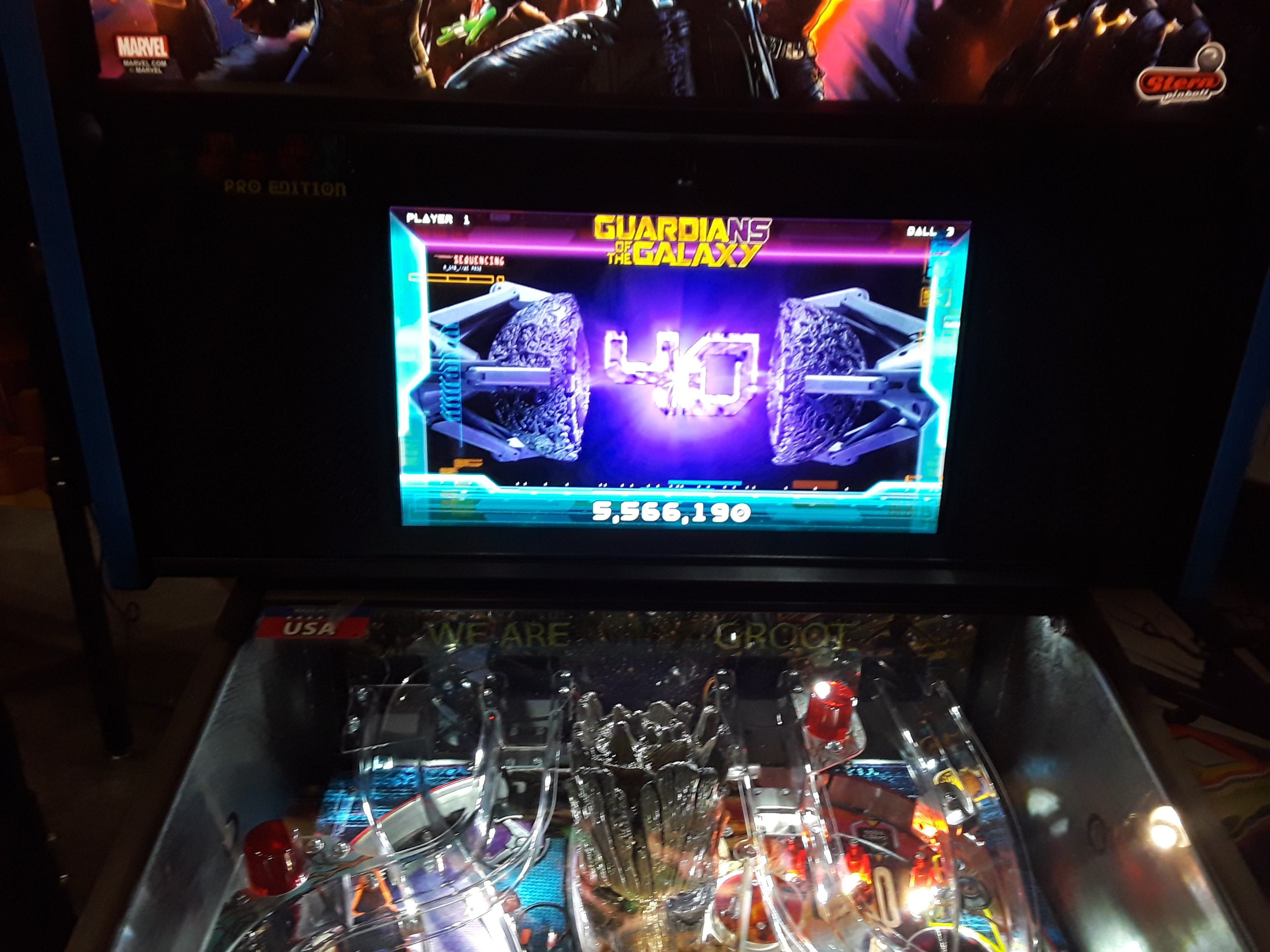 Guardians Of The Galaxy 5,566,190 points