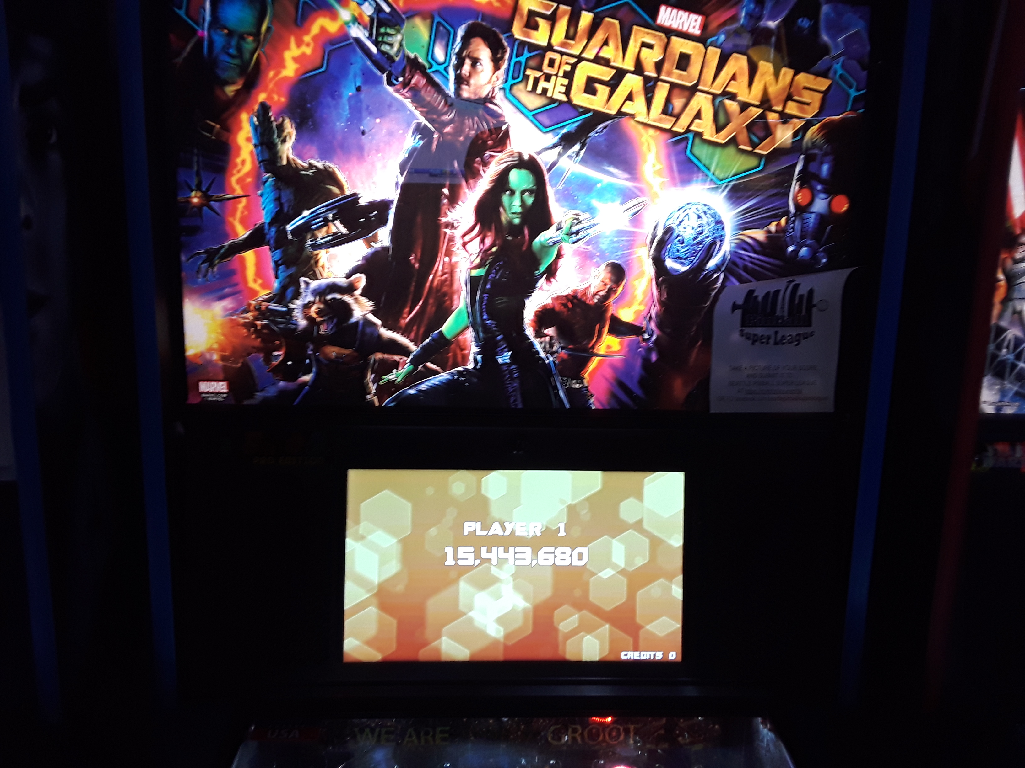 JML101582: Guardians Of The Galaxy (Pinball: 3 Balls) 15,443,680 points on 2018-08-18 19:05:10