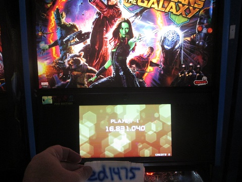 ed1475: Guardians Of The Galaxy (Pinball: 3 Balls) 16,831,040 points on 2018-08-23 18:32:42
