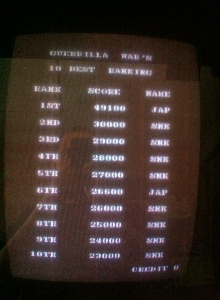 Samhain2099: Guerilla War (Arcade) 49,100 points on 2016-12-31 22:11:16