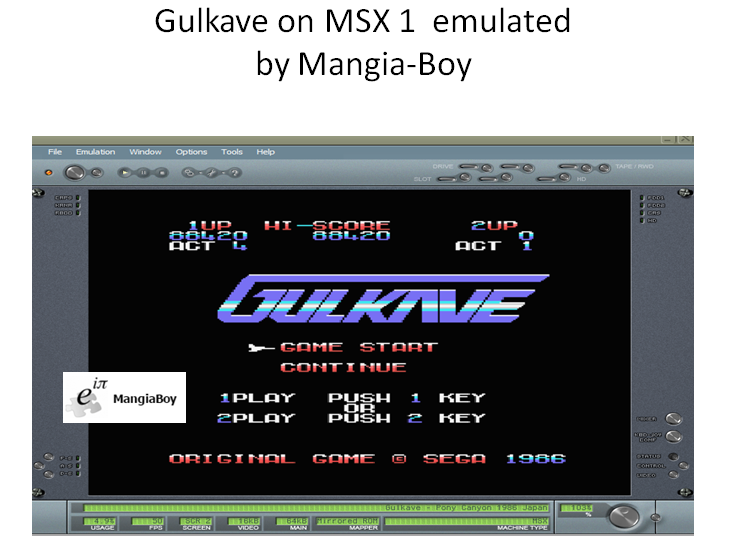 MangiaBoy: Gulkave [Continues Allowed] (MSX Emulated) 88,420 points on 2017-01-06 17:52:03