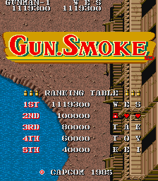 weskerumbrella: Gun.Smoke (Arcade Emulated / M.A.M.E.) 1,119,300 points on 2016-02-18 13:11:21