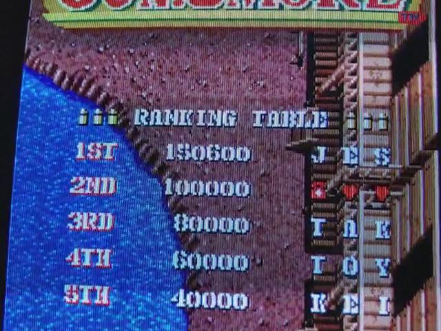 JES: Gun.Smoke (Arcade Emulated / M.A.M.E.) 150,600 points on 2017-11-27 09:06:29