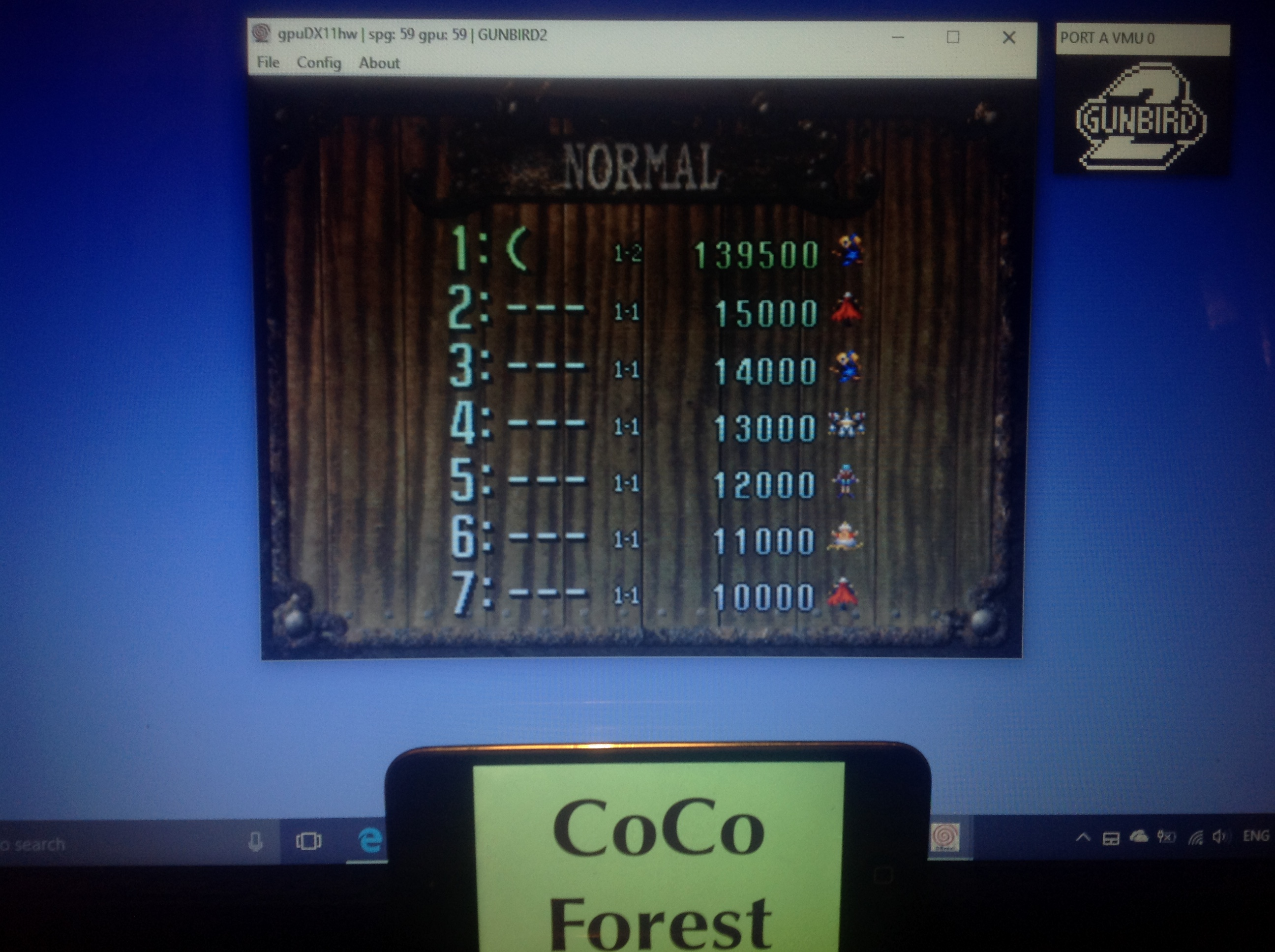 CoCoForest: Gunbird 2 (Dreamcast Emulated) 139,500 points on 2018-01-31 12:32:35