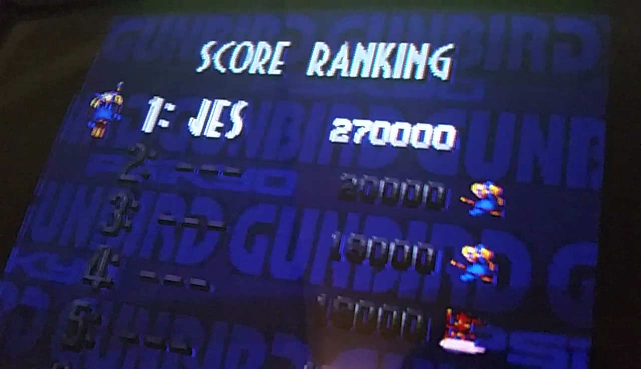 JES: Gunbird [gunbird] (Arcade Emulated / M.A.M.E.) 270,000 points on 2017-05-21 13:05:28