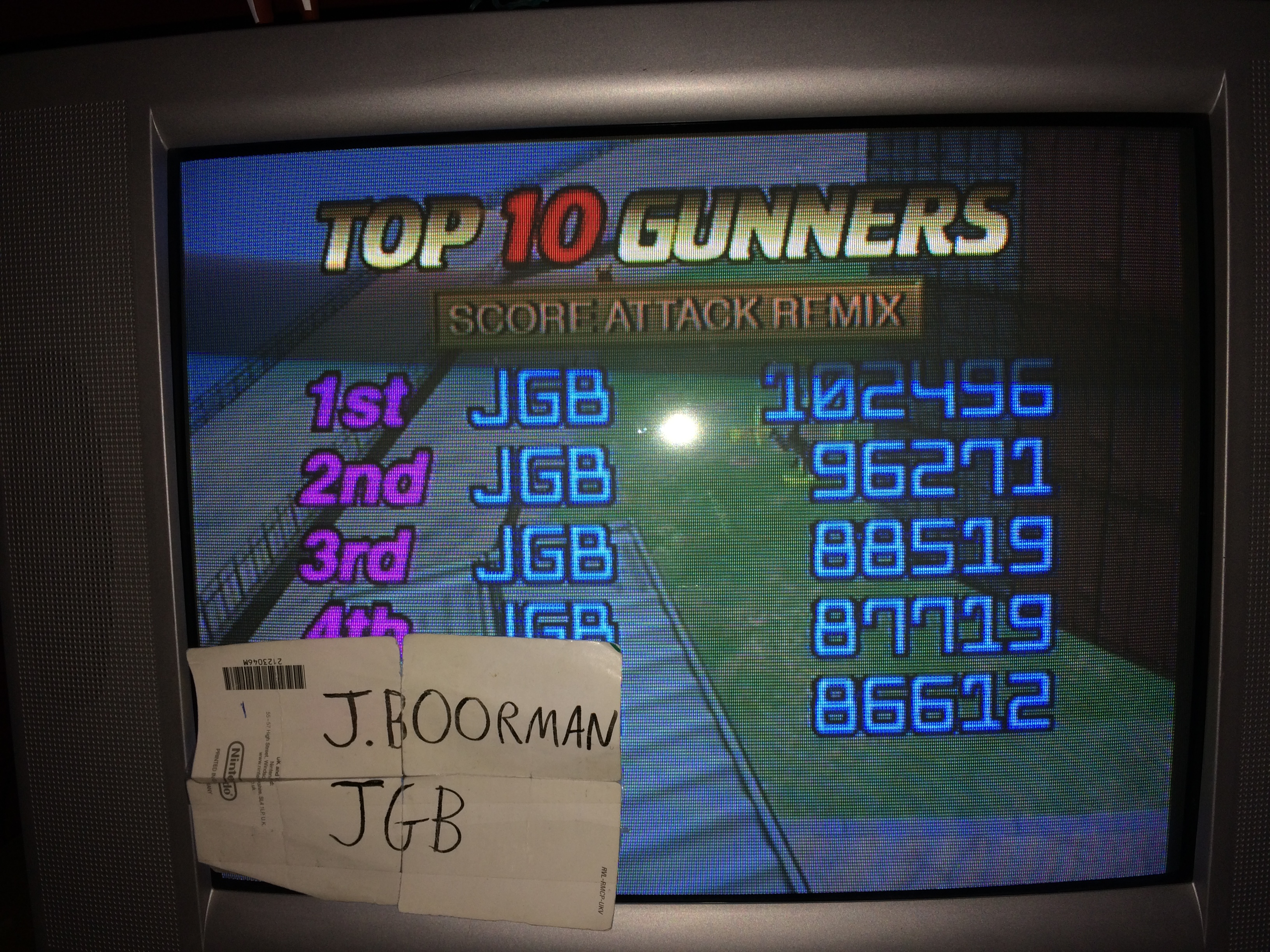 Gunblade NY: Score Attack Remix [Normal] 102,496 points