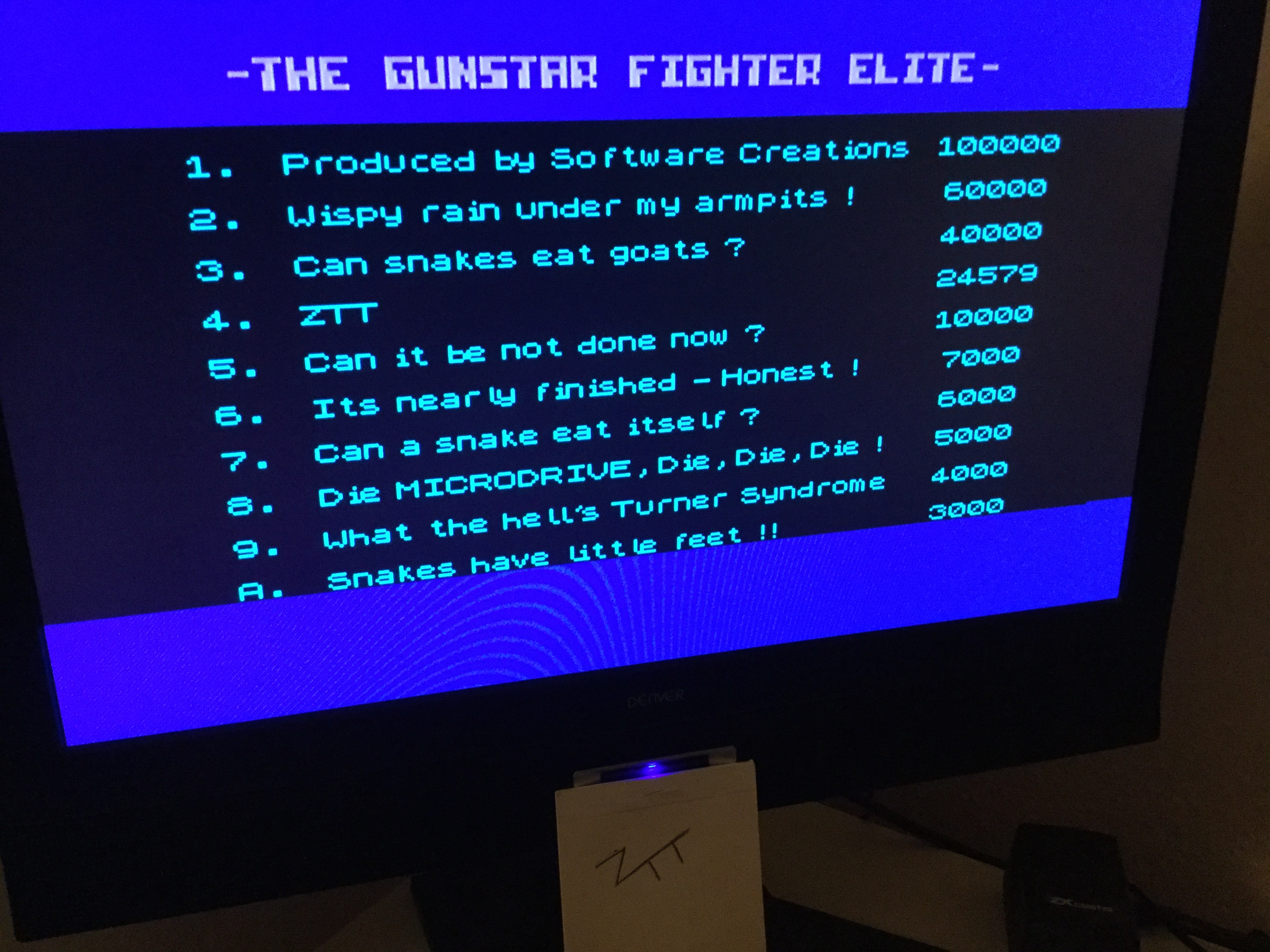 Frankie: Gunstar (ZX Spectrum) 24,579 points on 2020-03-06 06:00:21