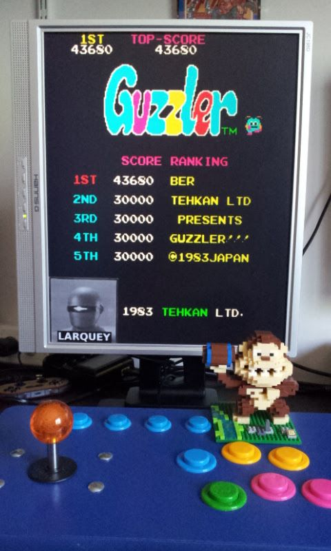 Larquey: Guzzler (Arcade Emulated / M.A.M.E.) 43,680 points on 2017-07-02 06:23:17