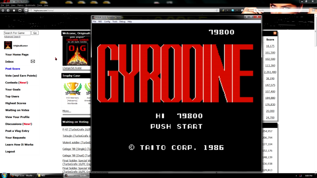 OriginalGamer: Gyrodine (NES/Famicom Emulated) 79,800 points on 2016-05-02 23:16:45