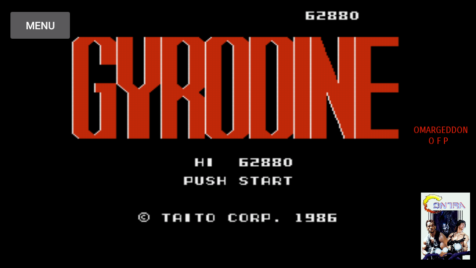 omargeddon: Gyrodine (NES/Famicom Emulated) 62,880 points on 2017-08-07 00:35:11