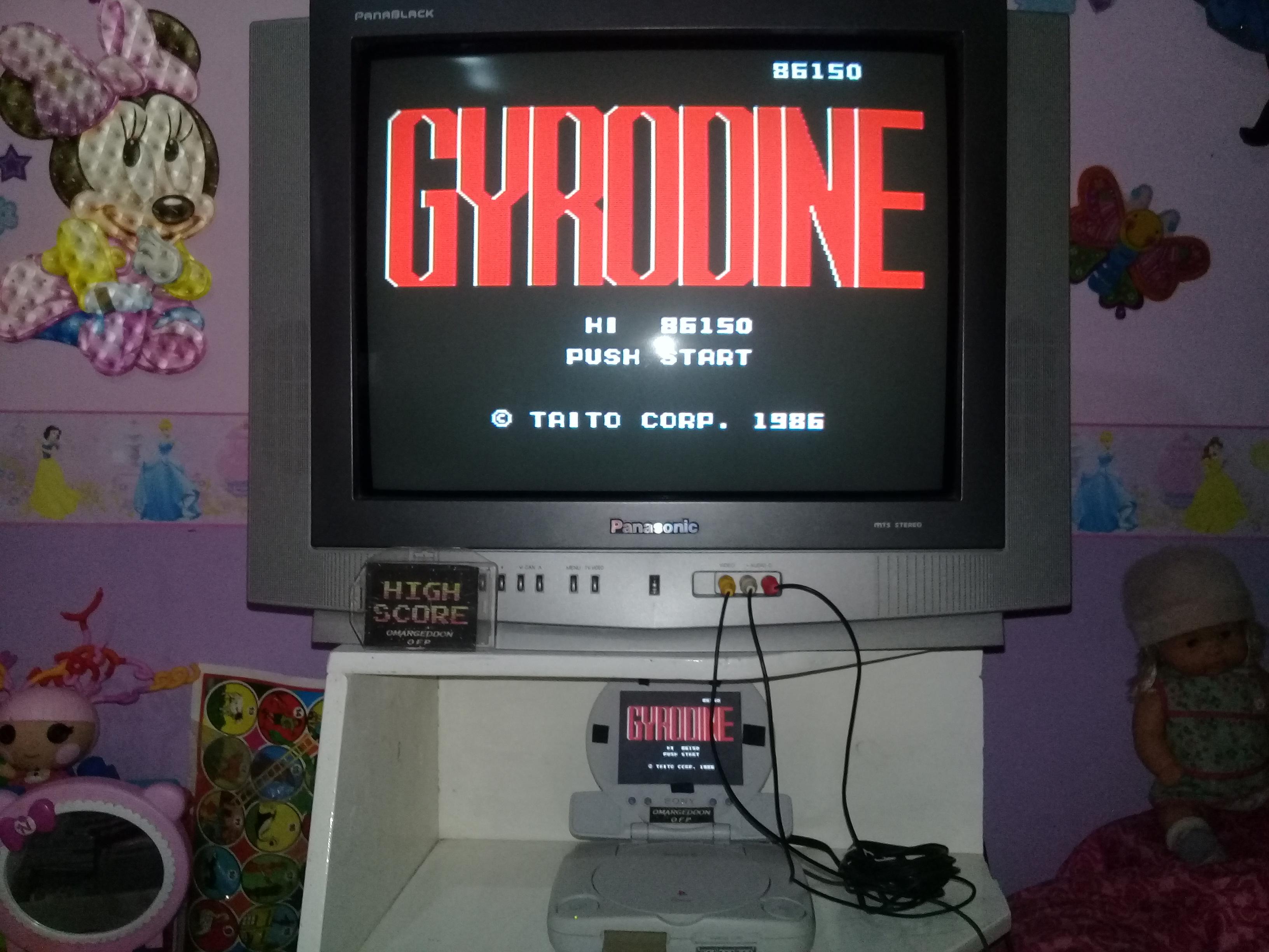 omargeddon: Gyrodine (NES/Famicom Emulated) 86,150 points on 2019-07-14 14:20:36