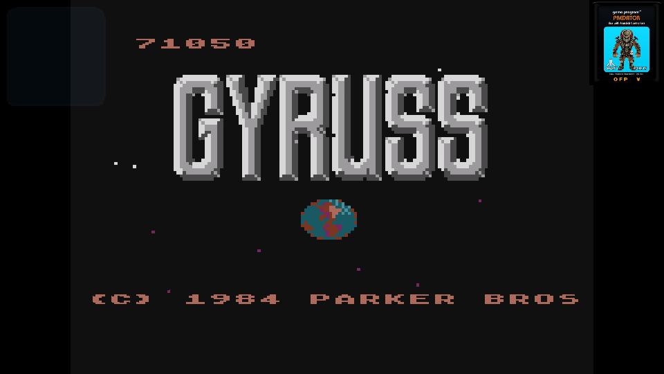 omargeddon: Gyruss (Atari 400/800/XL/XE Emulated) 71,050 points on 2017-06-24 23:44:45
