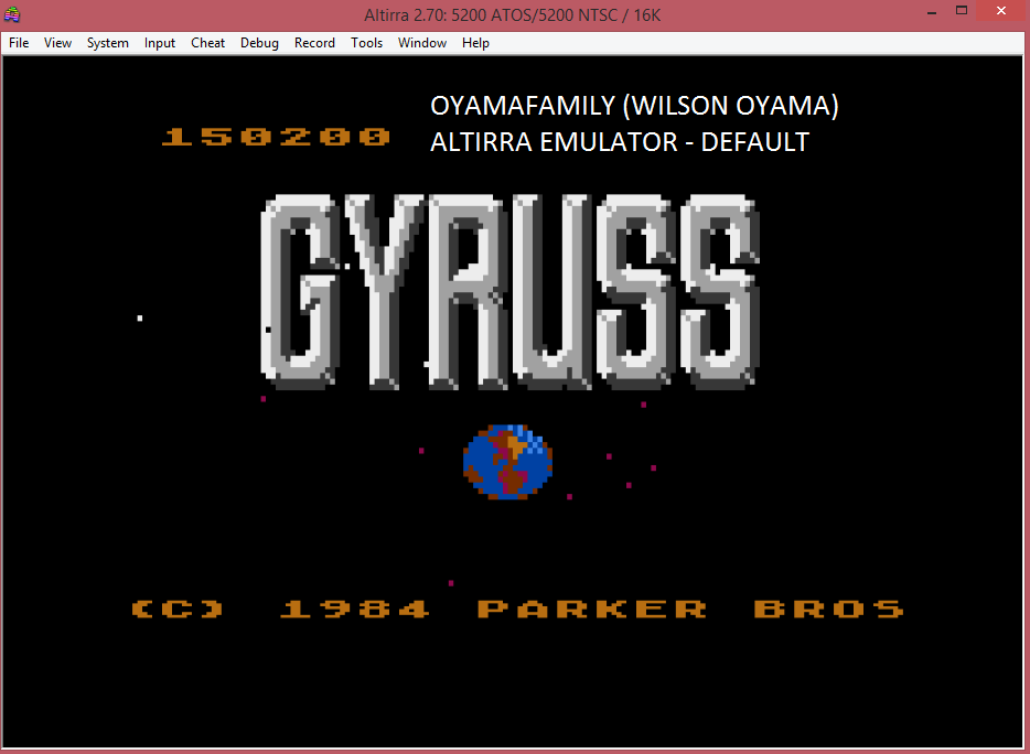 oyamafamily: Gyruss (Atari 5200 Emulated) 150,200 points on 2016-03-13 13:28:49