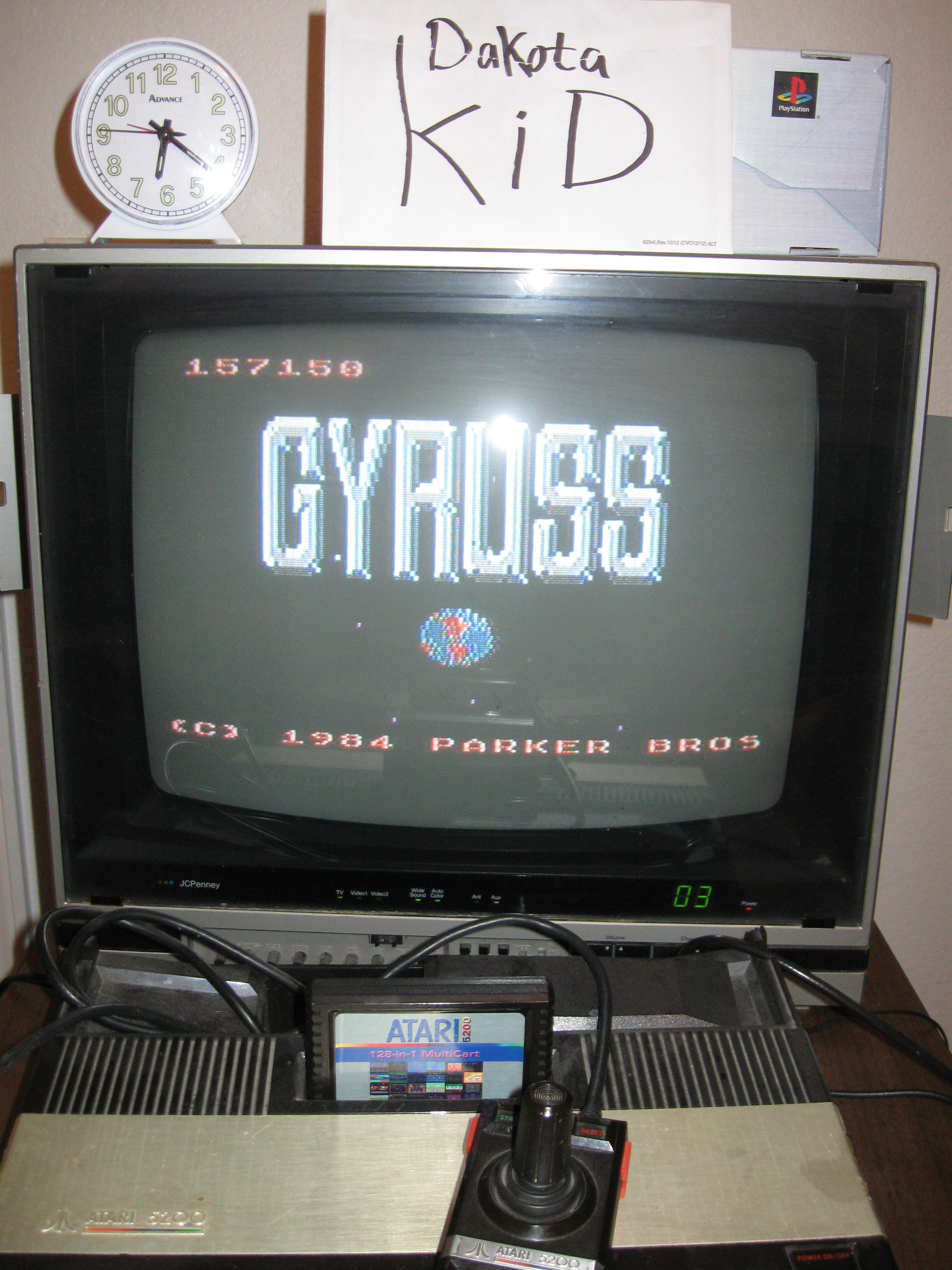 DakotaKid: Gyruss (Atari 5200) 157,150 points on 2016-04-14 19:17:21