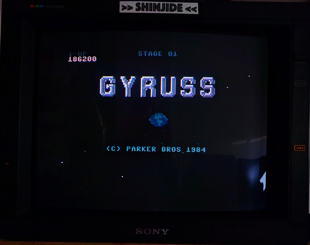 SHiNjide: Gyruss (Commodore 64) 186,200 points on 2017-01-27 12:40:14