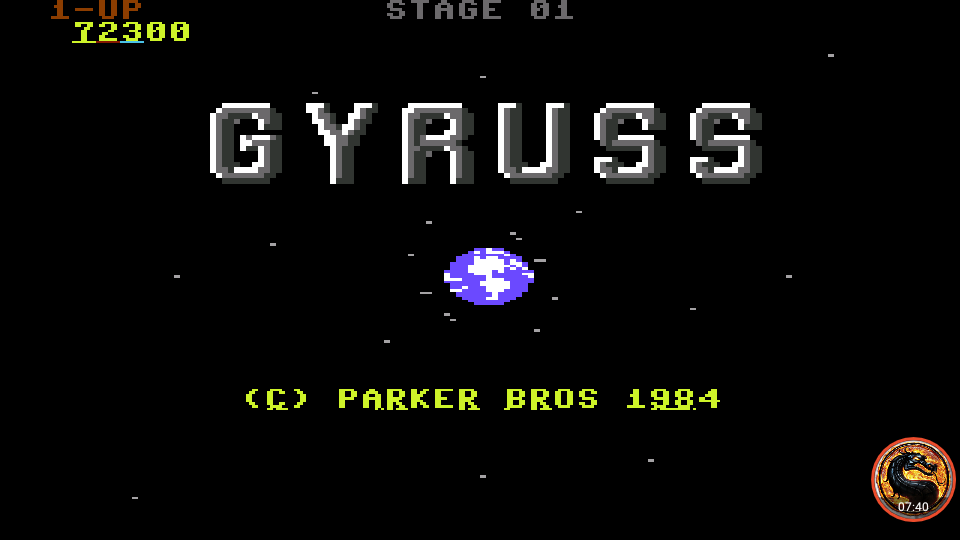 omargeddon: Gyruss (Commodore 64 Emulated) 72,300 points on 2019-09-07 00:15:04