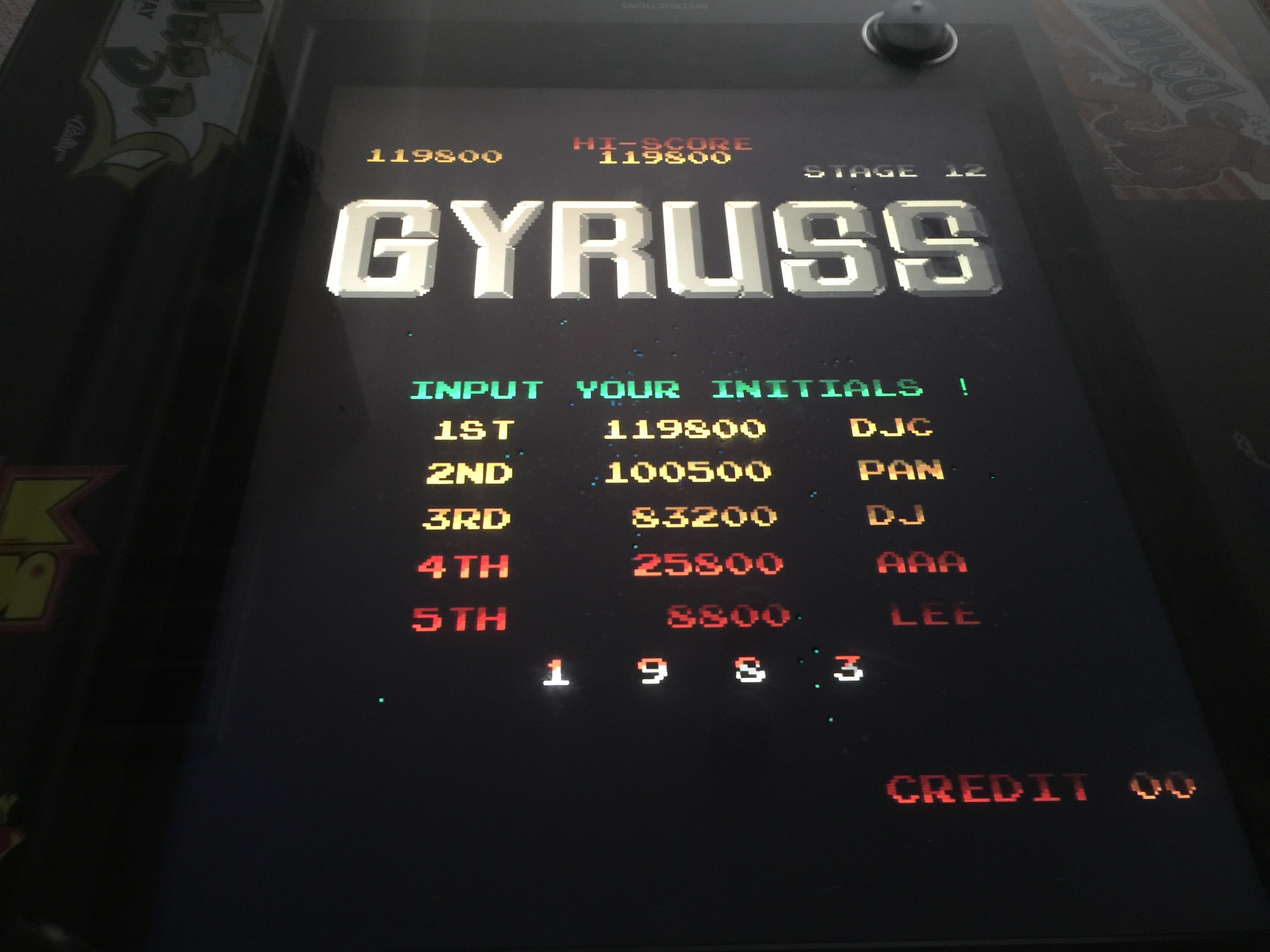 Gyruss 119,800 points
