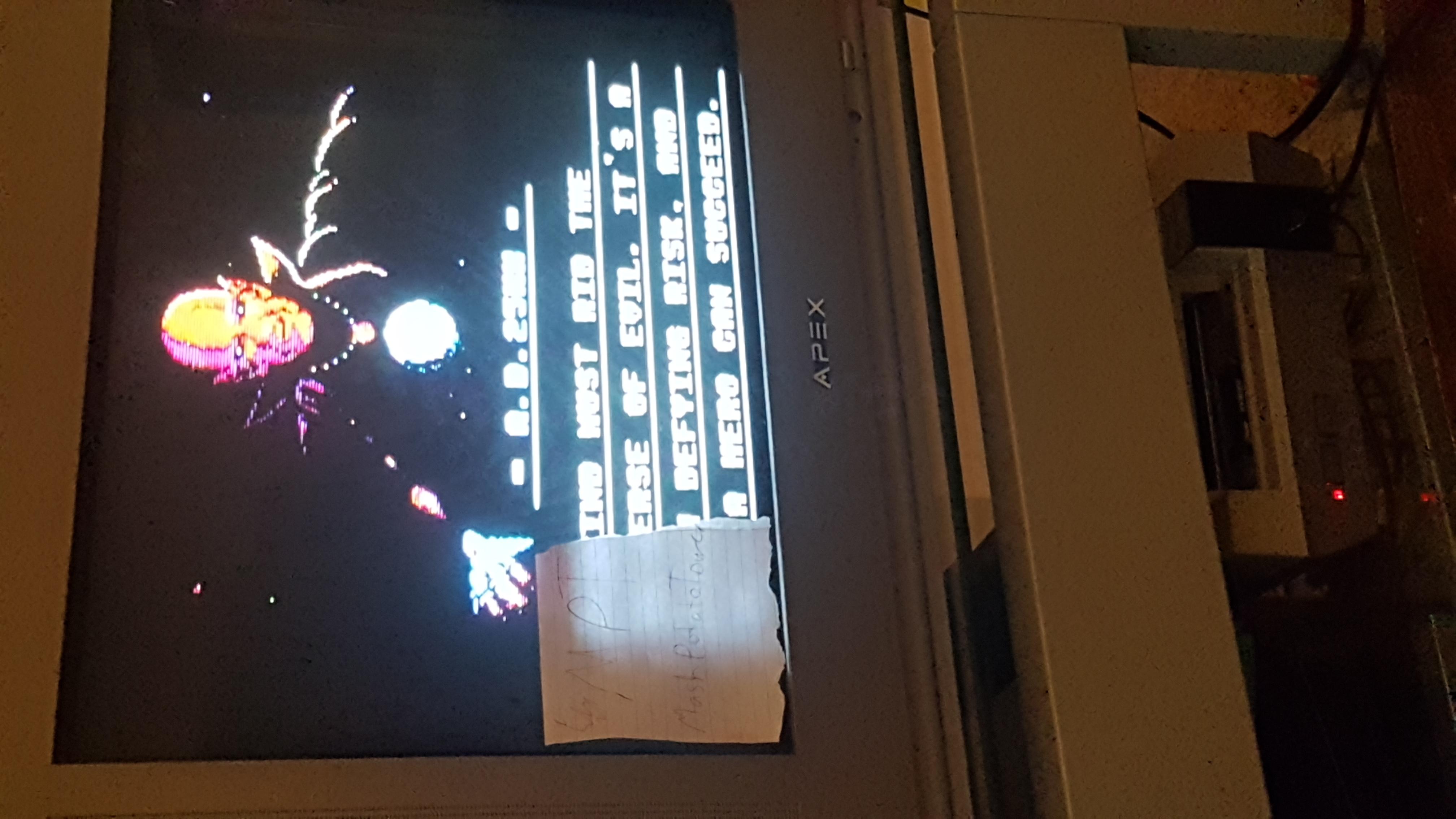 MashPotatoTower: Gyruss (NES/Famicom) 669,250 points on 2019-06-19 13:38:28
