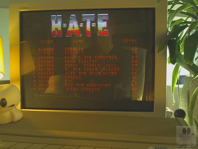 GTibel: H.A.T.E. (Atari ST) 1,690 points on 2019-11-14 01:50:16
