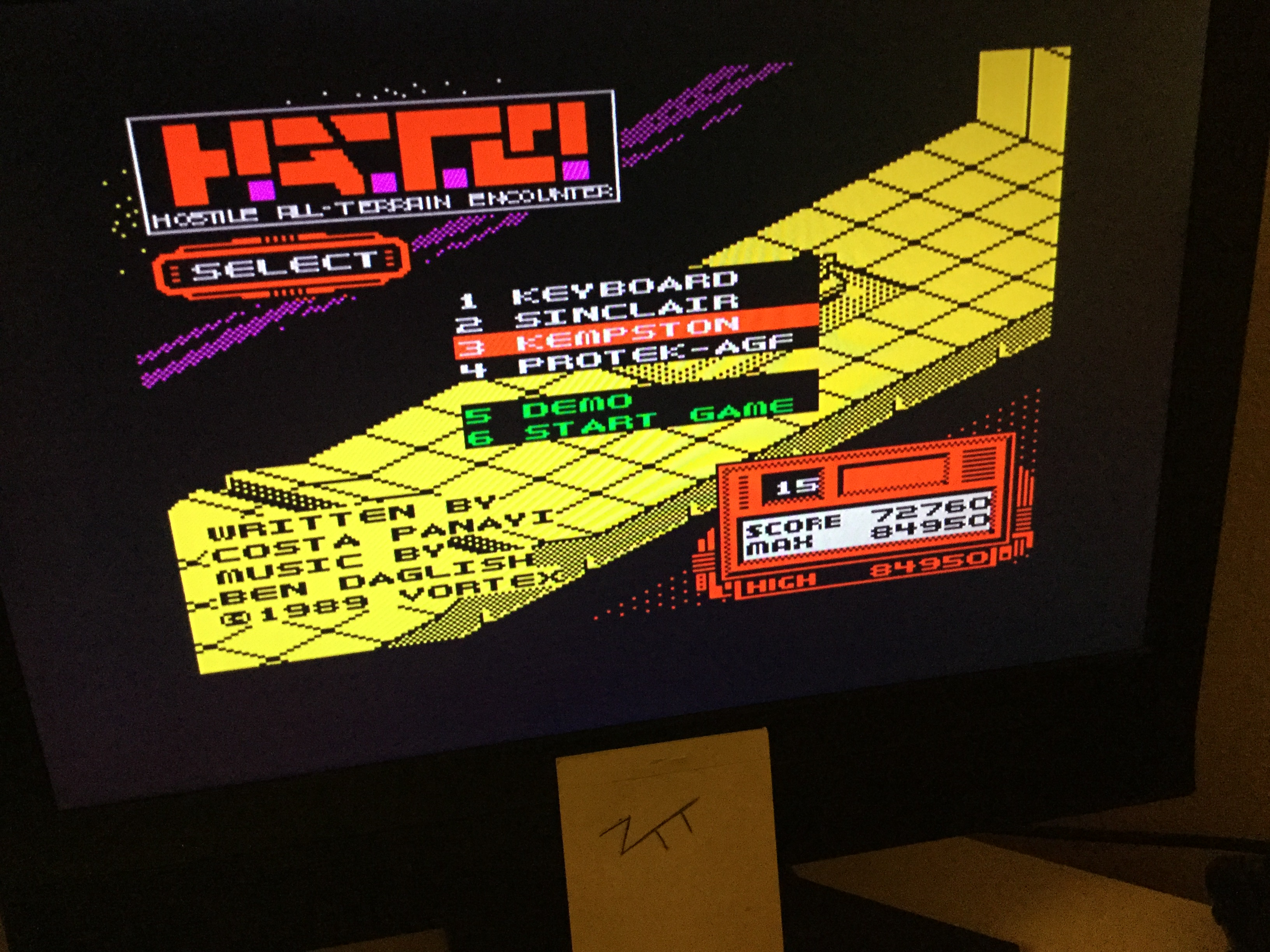 Frankie: H.A.T.E. [MAX Score Counts] (ZX Spectrum) 84,950 points on 2020-05-29 04:38:17