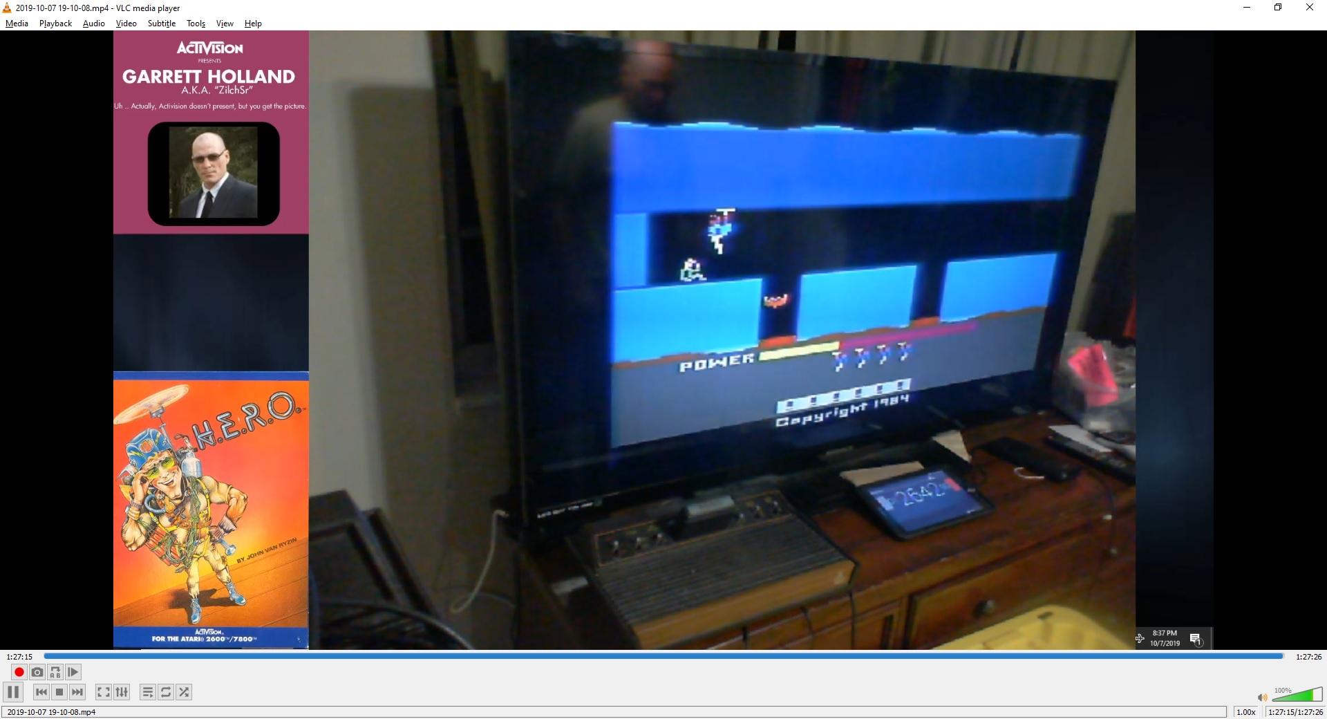 ZilchSr: H.E.R.O. (Atari 2600 Novice/B) 1,000,000 points on 2019-10-07 23:36:12