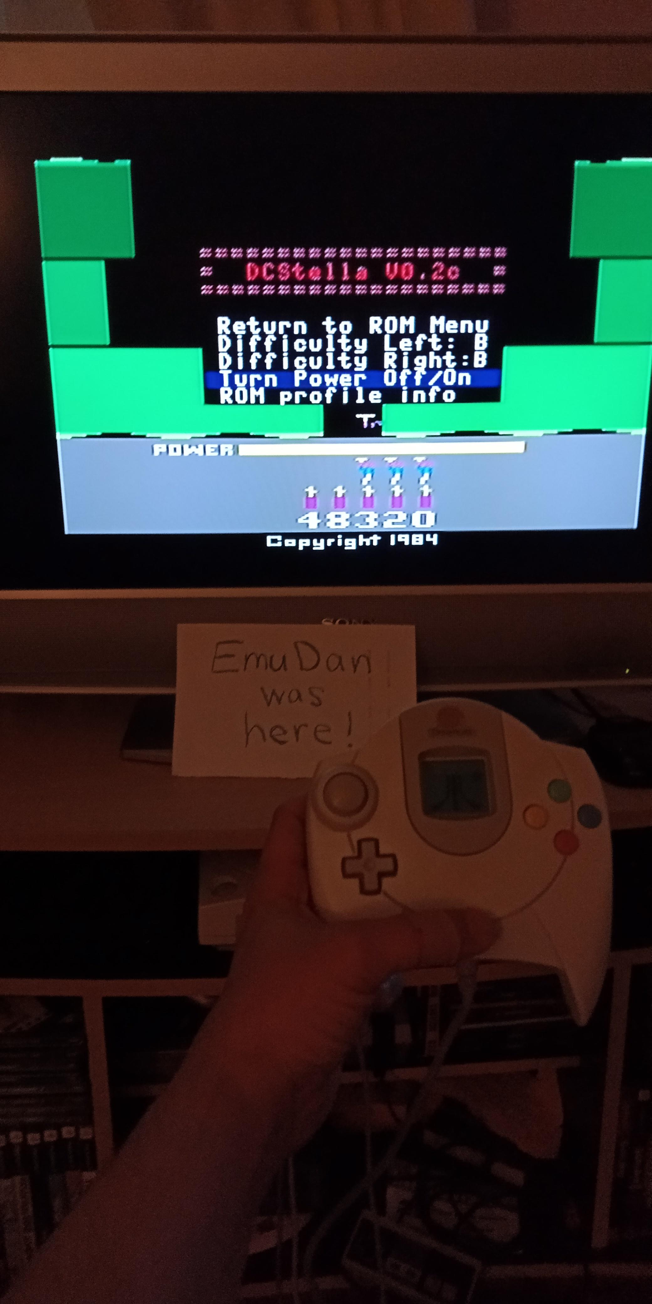 EmuDan: H.E.R.O.  (Atari 2600 Emulated Novice/B Mode) 48,320 points on 2019-05-24 19:47:13