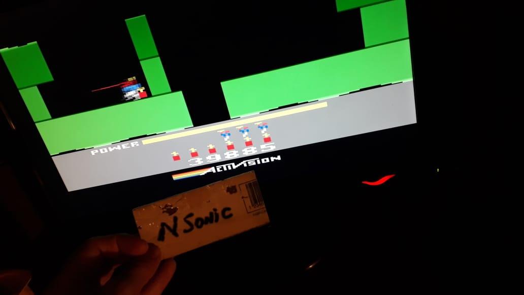 NSonic: H.E.R.O.  (Atari 2600 Emulated Novice/B Mode) 39,885 points on 2019-05-24 20:40:45