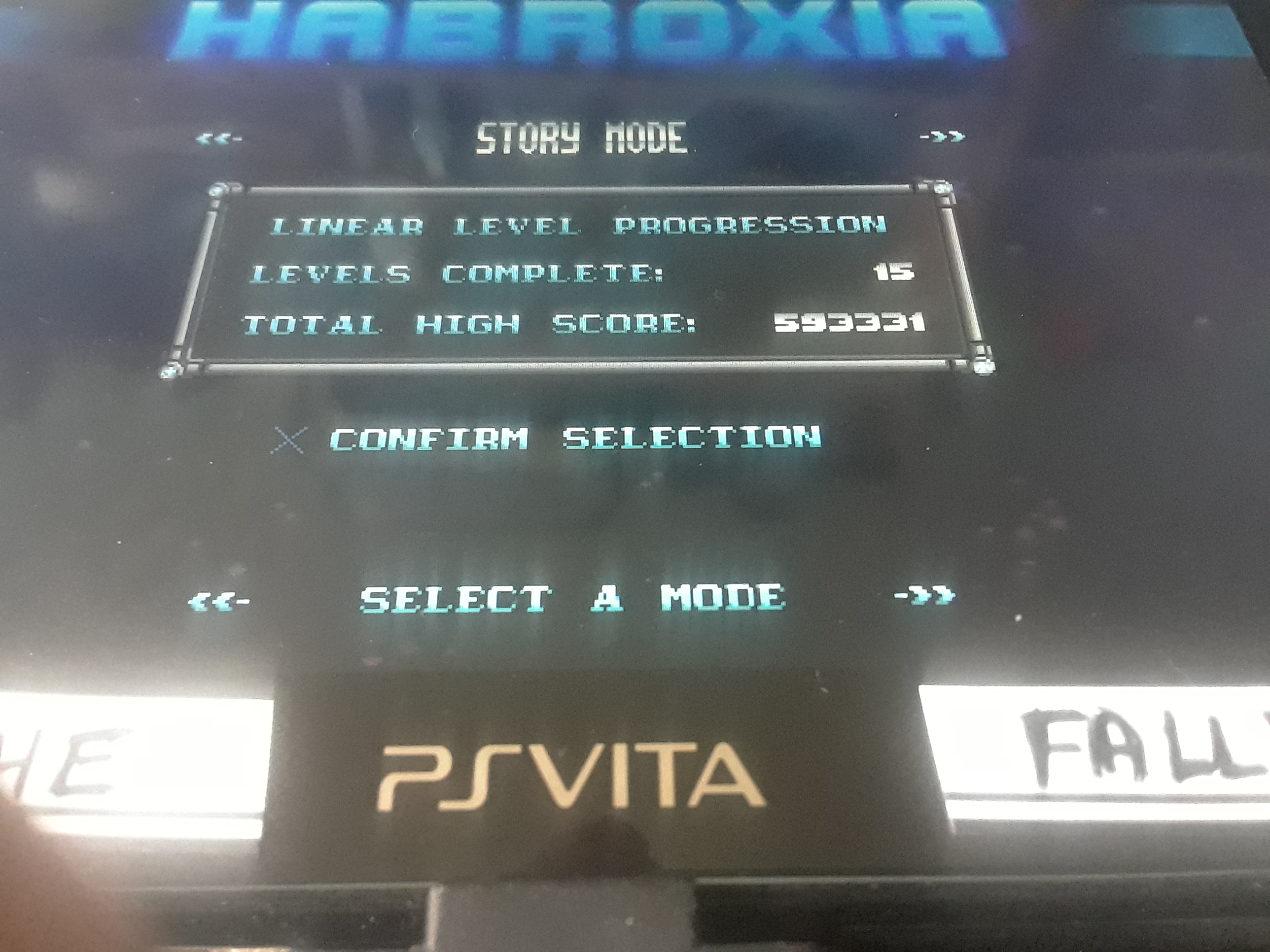 iamthefallen1: Habroxia [Story Mode: Total High Score] (PS Vita) 593,331 points on 2019-10-27 13:03:53