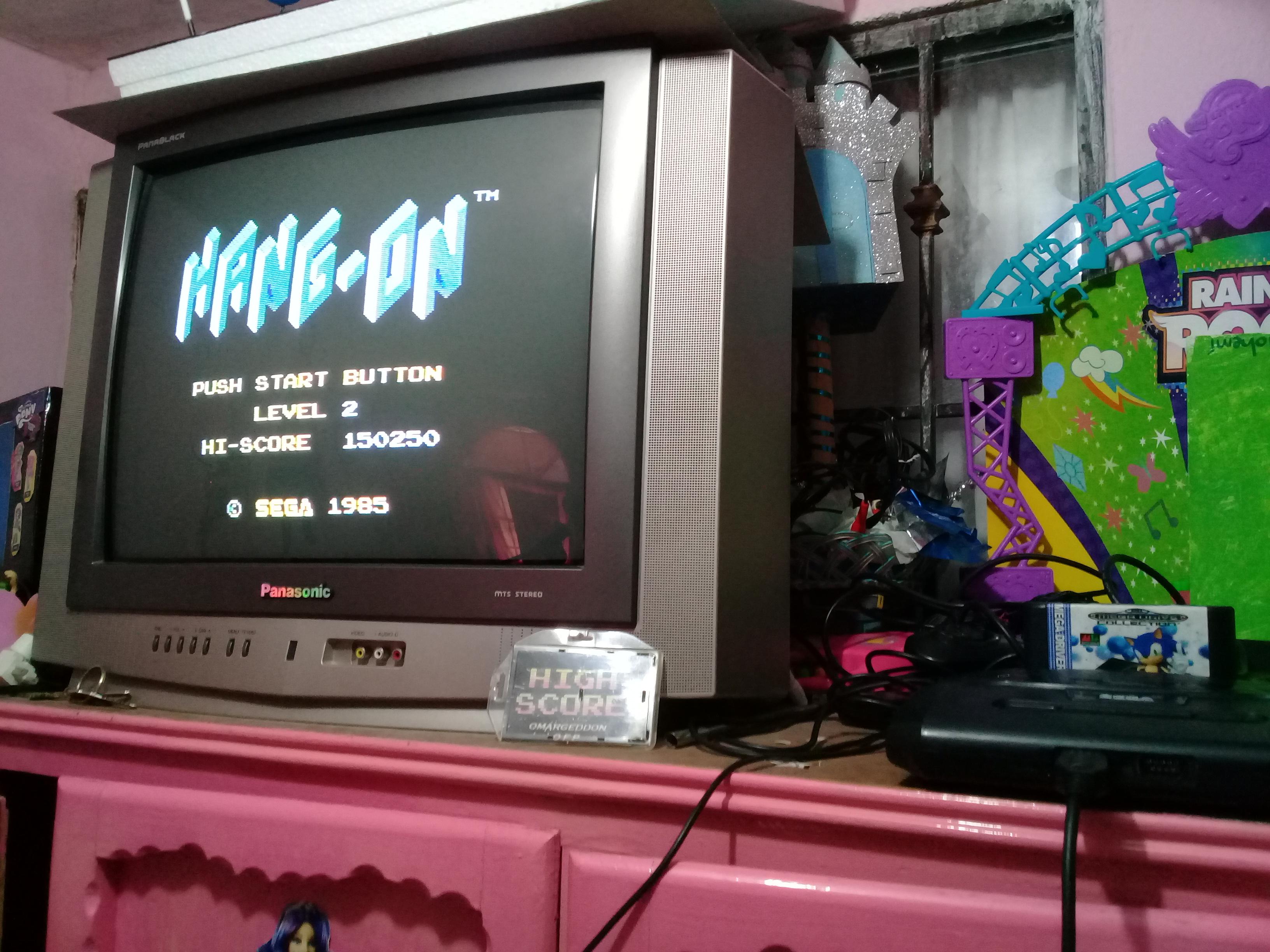omargeddon: Hang On [Level 2] (Sega Master System) 150,250 points on 2019-01-11 16:33:57