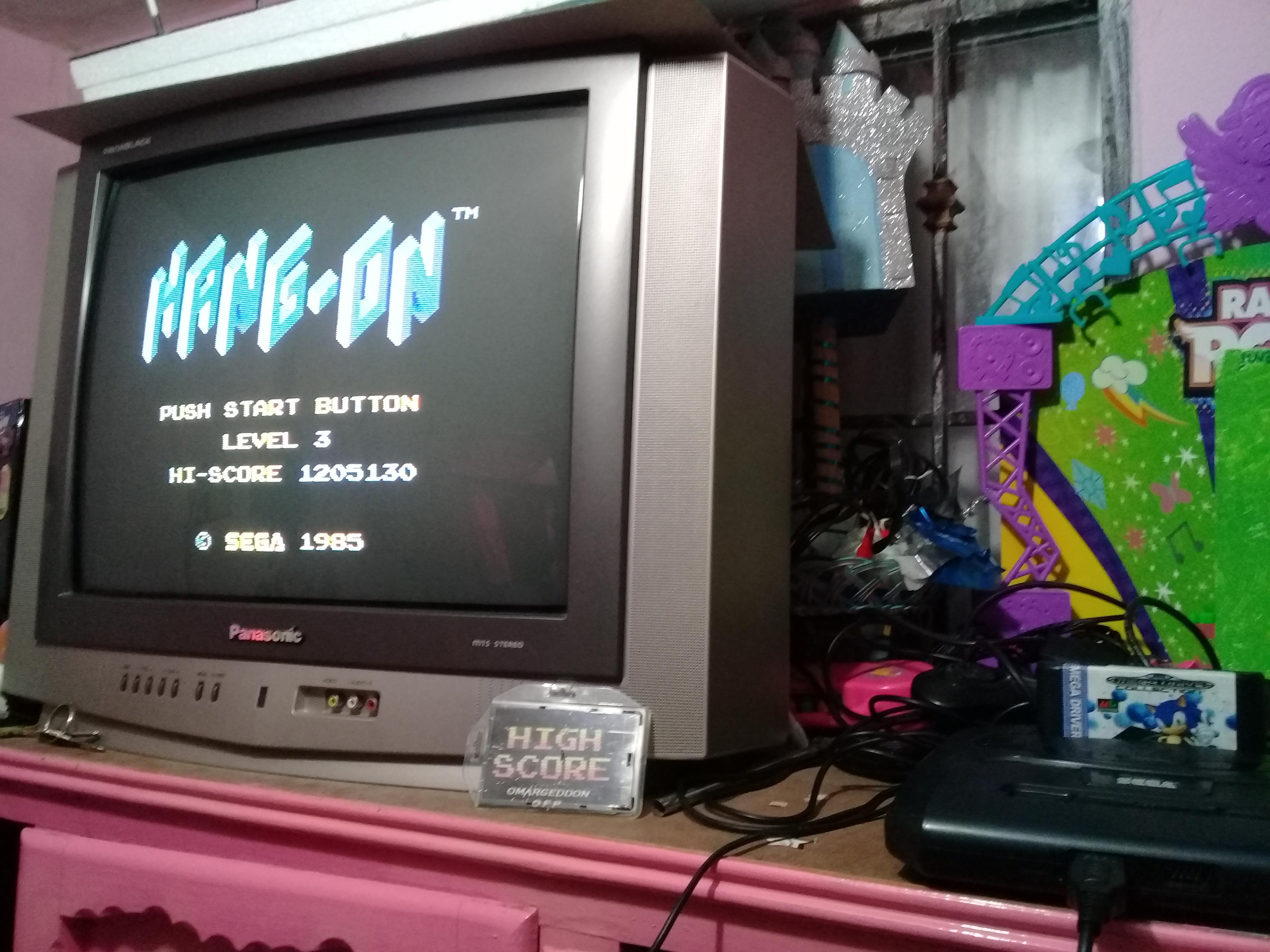 omargeddon: Hang On [Level 3] (Sega Master System) 1,205,130 points on 2019-01-11 16:34:36