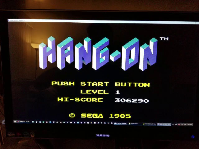 JES: Hang On (Sega Master System Emulated) 306,290 points on 2019-01-13 23:36:45