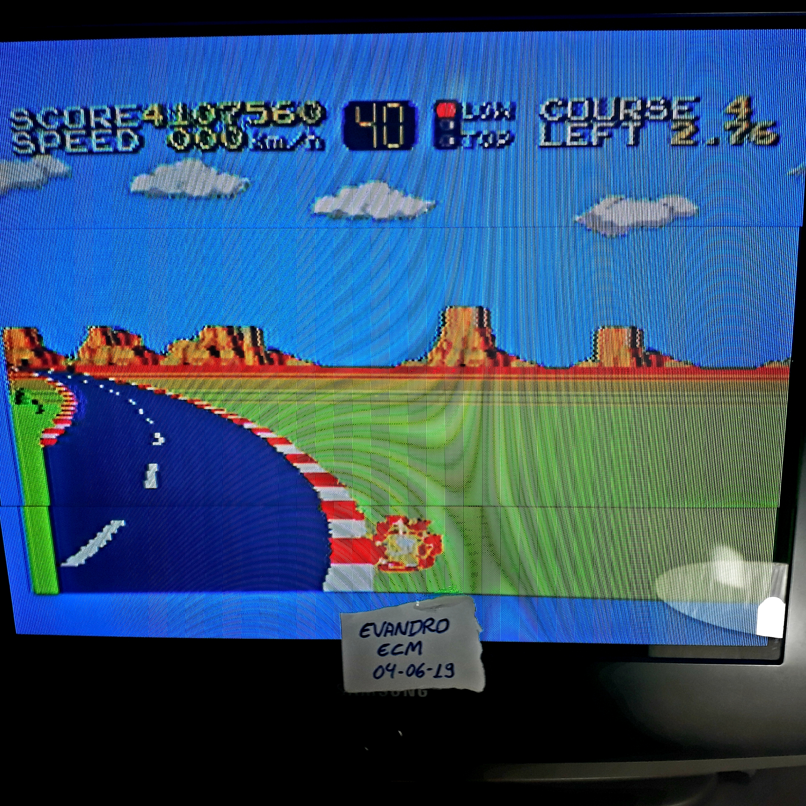 Evandro: Hang On (Sega Master System) 4,107,560 points on 2019-06-10 14:49:12
