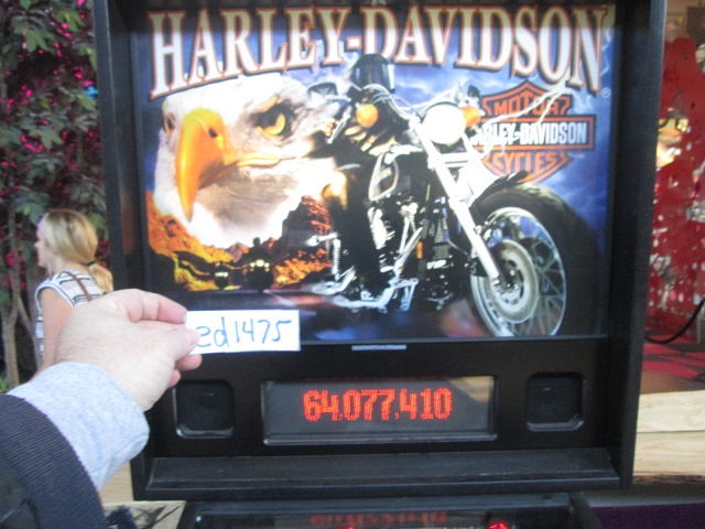 ed1475: Harley Davidson (Sega/Stern) (Pinball: 3 Balls) 64,077,410 points on 2017-01-15 16:46:09