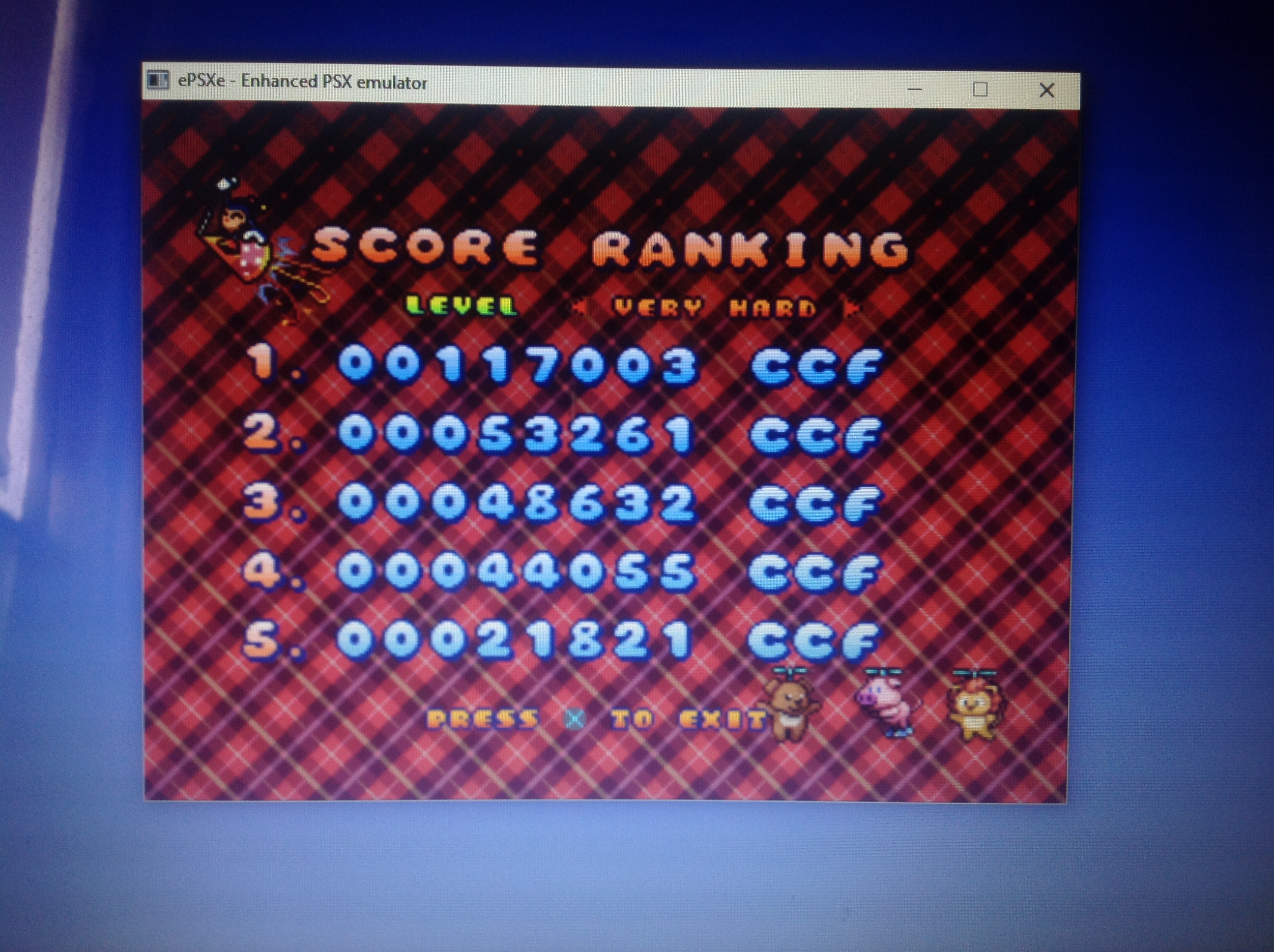 CoCoForest: Harmful Park [Very Hard] (Playstation 1 Emulated) 117,003 points on 2018-01-28 07:03:32