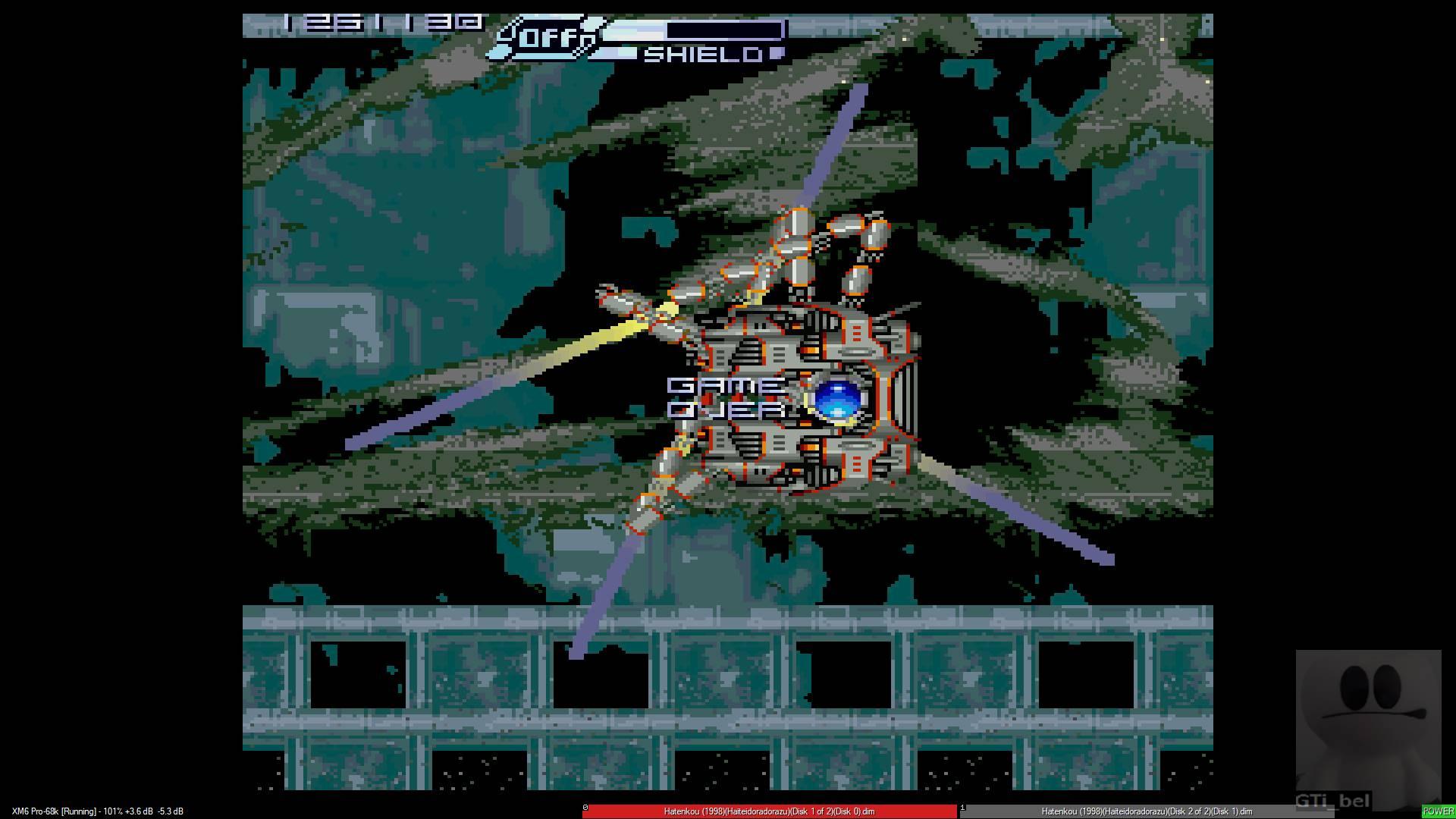GTibel: Hatenkou (Sharp X68000 Emulated) 1,261,130 points on 2020-01-23 12:00:14