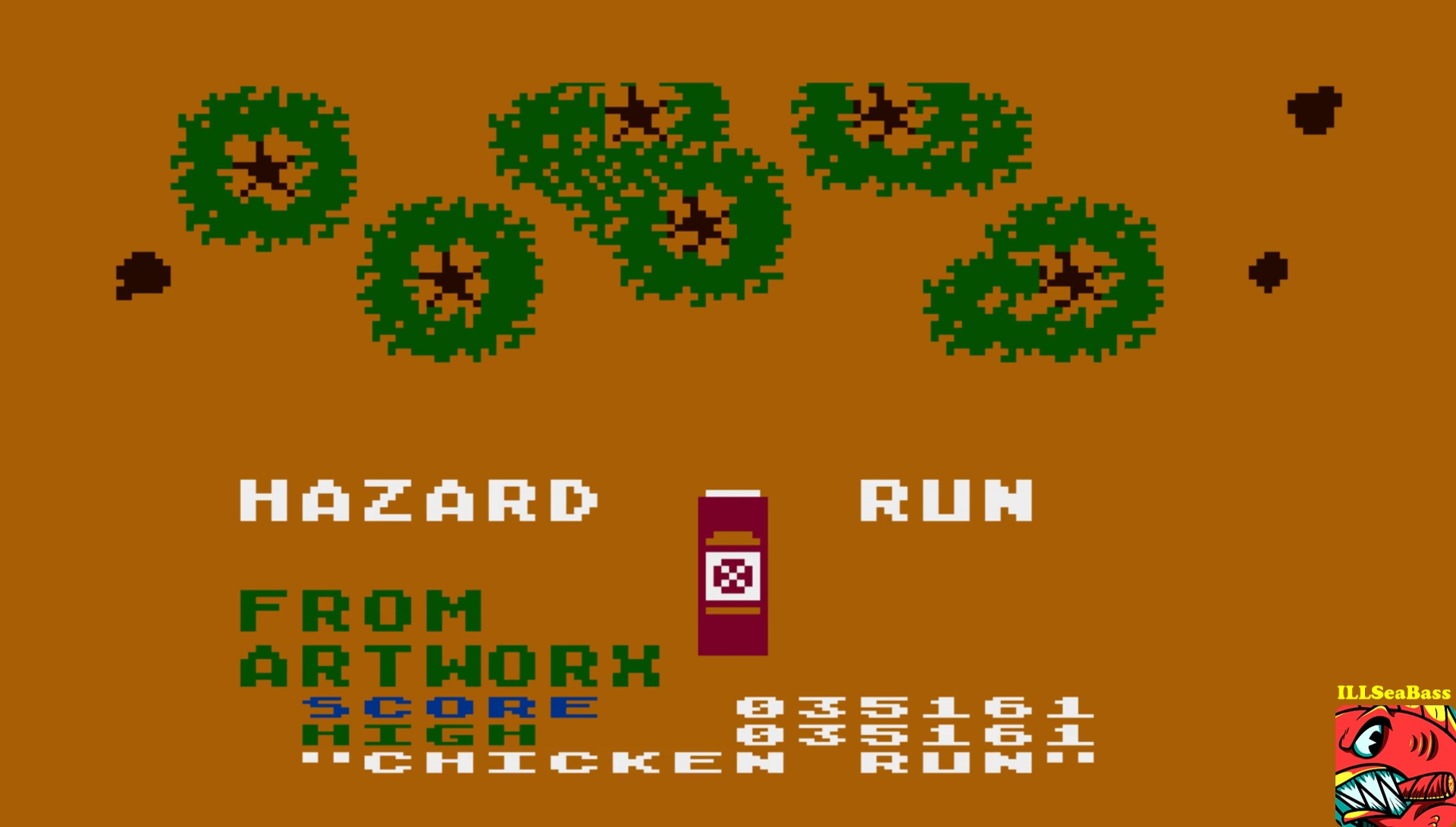 ILLSeaBass: Hazard Run [Chicken Run] (Atari 400/800/XL/XE Emulated) 35,161 points on 2017-06-10 12:17:02