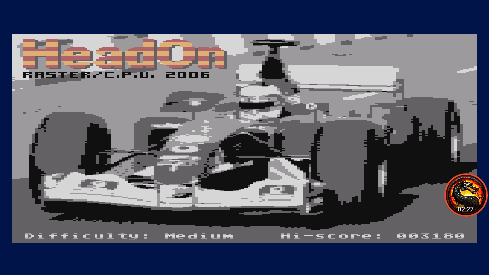 omargeddon: Head On [Medium] (Atari 400/800/XL/XE Emulated) 3,180 points on 2020-08-31 13:55:32