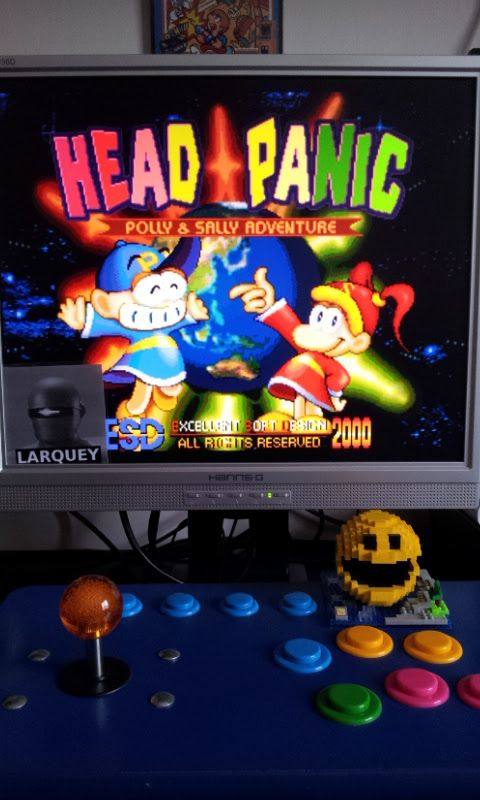 Larquey: Head Panic [hedpanic] (Arcade Emulated / M.A.M.E.) 114,340 points on 2017-05-21 05:37:58