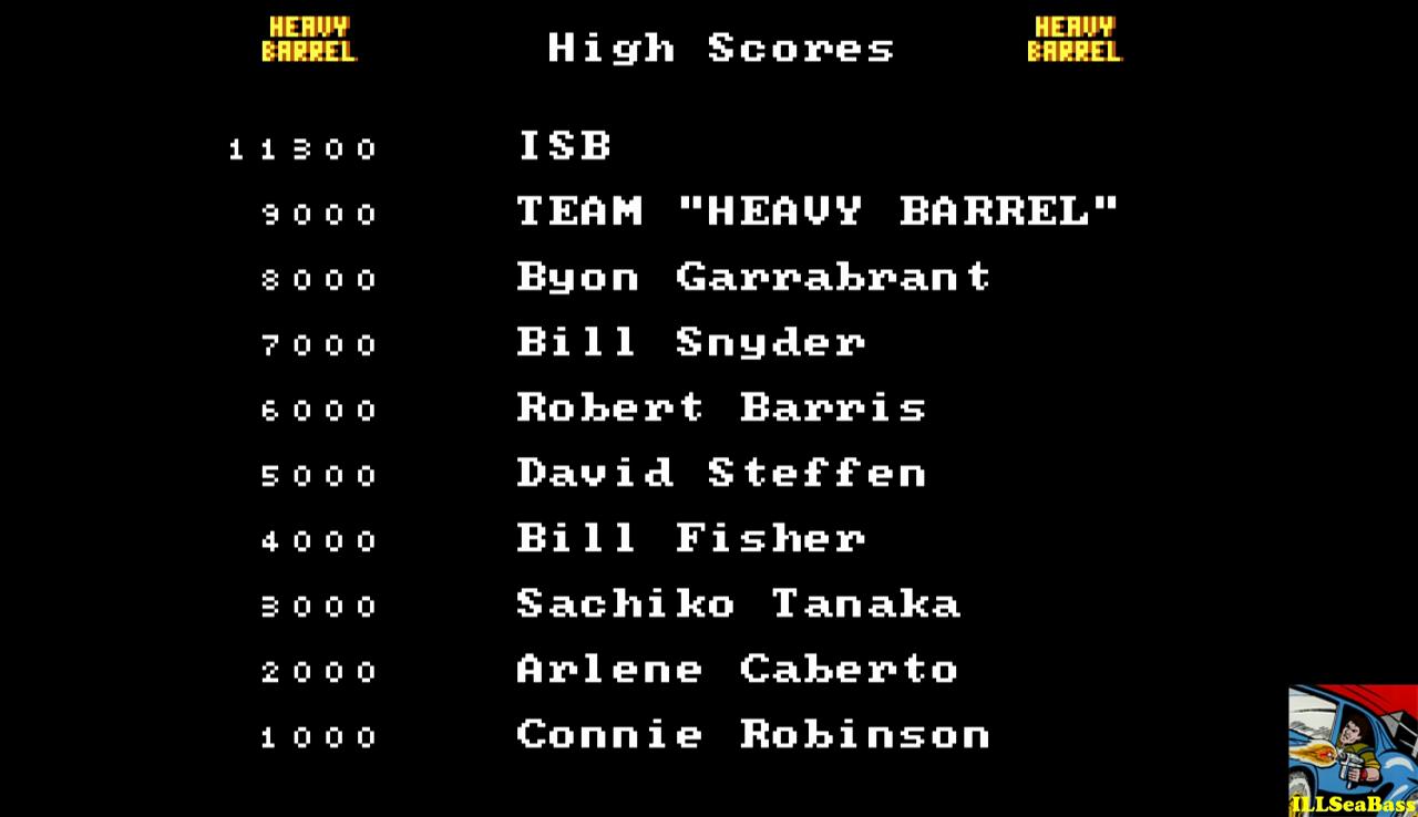 ILLSeaBass: Heavy Barrel (PC Emulated / DOSBox) 11,300 points on 2016-12-29 21:08:46