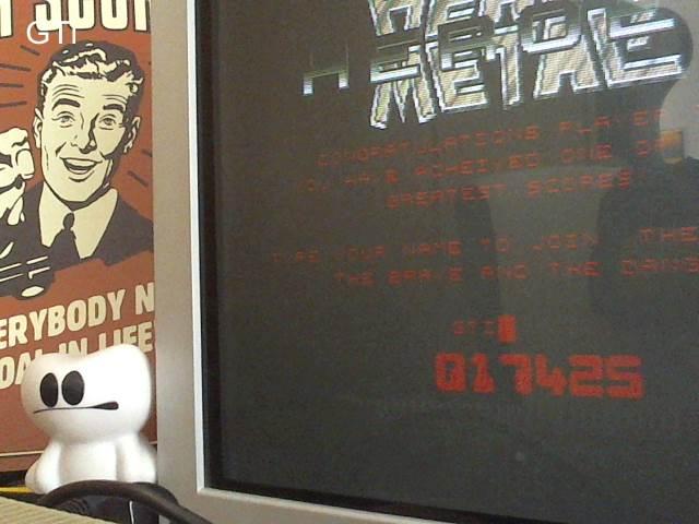 GTibel: Heavy Metal Heroes (Atari ST) 17,425 points on 2017-07-24 10:14:34