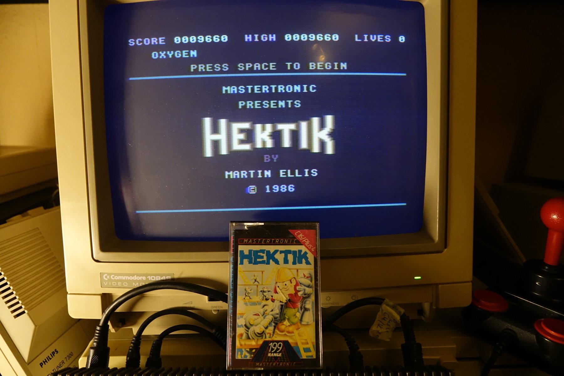plus4punk: Hektik (Commodore 16/Plus4) 9,660 points on 2020-05-18 16:42:28
