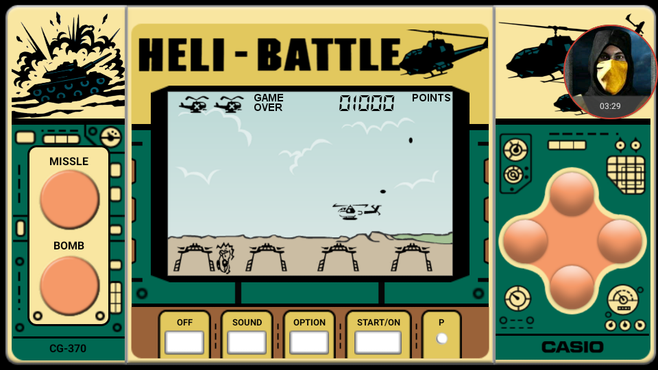 omargeddon: Heli Battle (Dedicated Handheld Emulated) 1,000 points on 2018-05-13 08:26:55