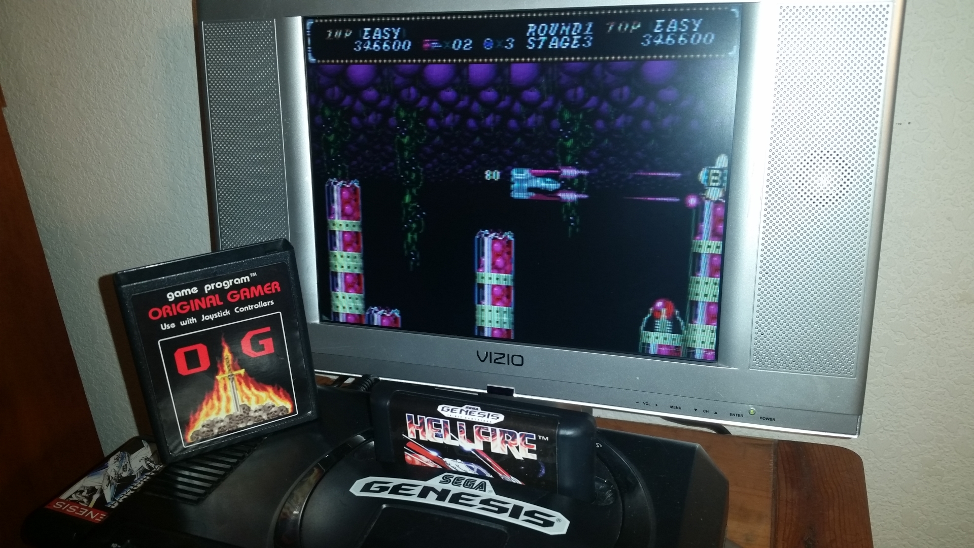OriginalGamer: Hellfire: Easy (Sega Genesis / MegaDrive) 346,600 points on 2016-11-17 00:59:34