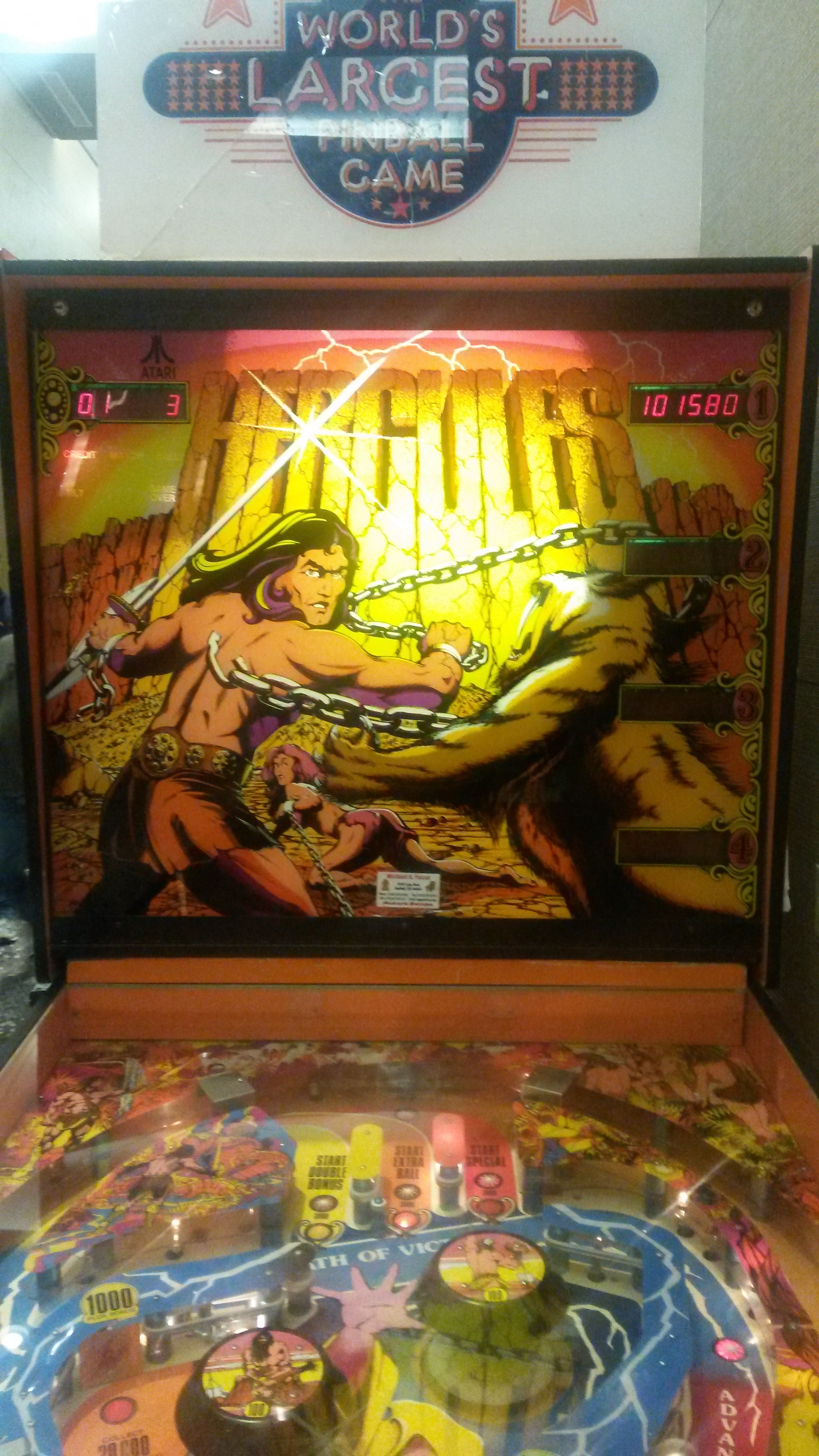 DukeG442: Hercules (Pinball: 3 Balls) 101,580 points on 2015-10-16 00:11:43