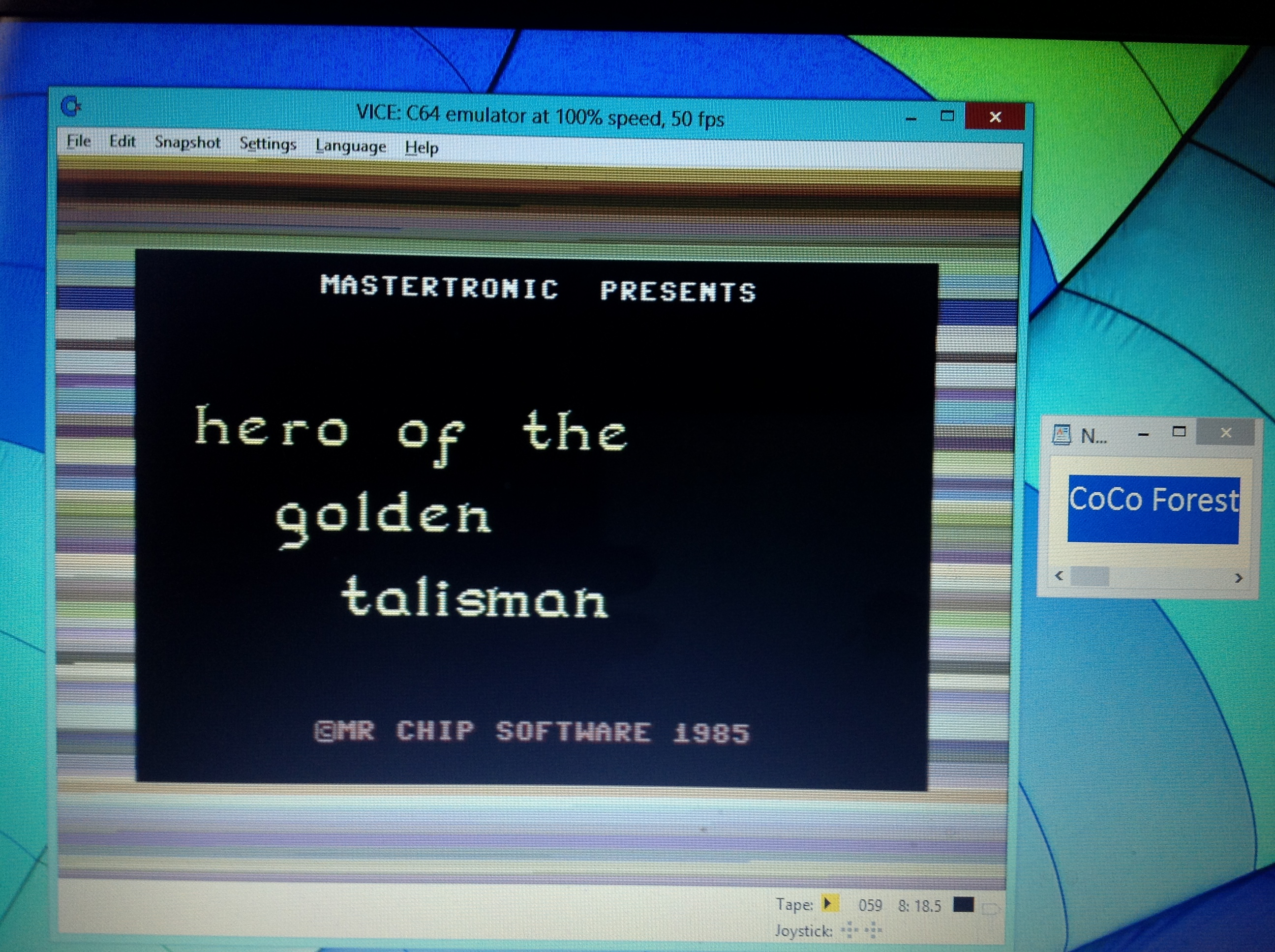 CoCoForest: Hero of the Golden Talisman (Commodore 64 Emulated) 4,110 points on 2019-04-06 05:56:37