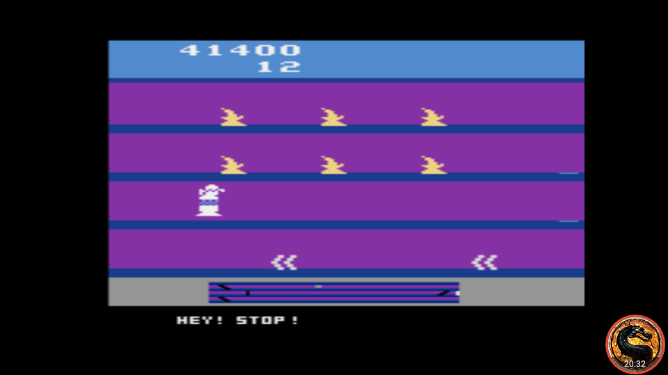 omargeddon: Hey! Stop! (Atari 2600 Emulated Novice/B Mode) 41,400 points on 2019-12-29 02:10:10