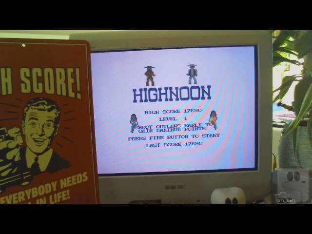 GTibel: Highnoon (Commodore 64) 17,690 points on 2019-02-14 07:39:26