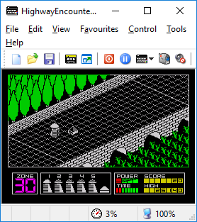 Dumple: Highway Encounter (ZX Spectrum Emulated) 26,140 points on 2018-04-01 21:30:56
