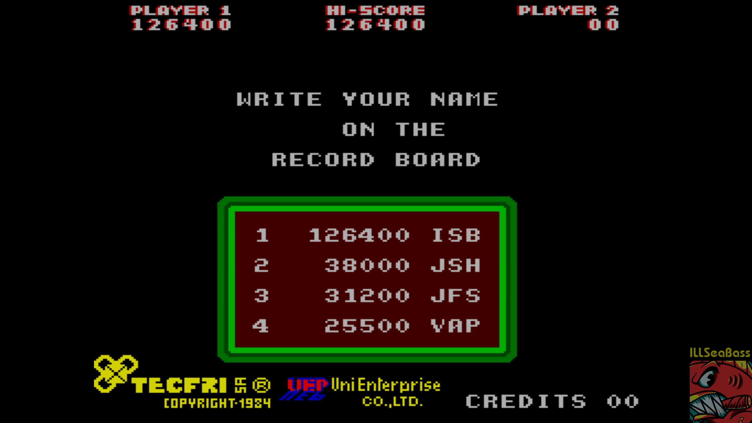 ILLSeaBass: Hole Land [holeland] (Arcade Emulated / M.A.M.E.) 126,400 points on 2018-07-30 09:53:22